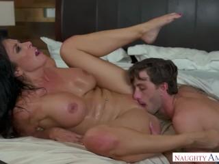 Hot Milf Reagan Foxx fucks young cock