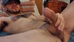 Cute guy in hat tells you to suck him while he moans and cums!