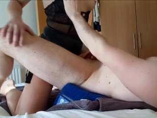 Amateur Girl Passionately Pegging Him To Massive Cumshot – She Can Pound!