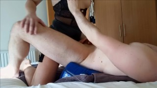 Amateur Girl Passionately Pegging Him To Massive Cumshot - She Can Pound!