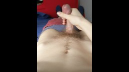 18 year old jerks off in POV and cum on himself on his day off from college