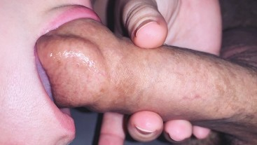 Slurping And Sucking On A Slippery Soft Uncut Foreskin