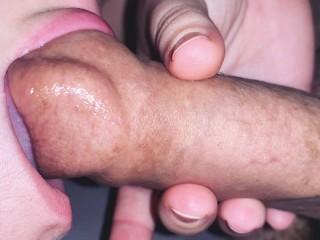 Sativa Rose Naked Slurping And Sucking On A Slippery Soft Uncut Foreskin, Amateur Big Dick
