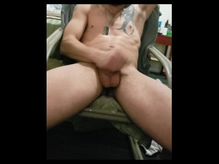 A quick jacking with cum shot