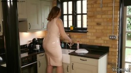 Paige Turnah Taboo Step Mum in Latex Teases Step Son with her big Ass