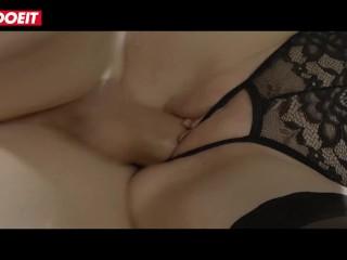 LETSDOEIT – Smoking Hot Blonde Teen Fantasy Fucked Hard By Two Big Cocks