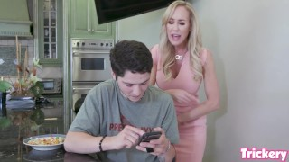 Trickery – Stepmom Brandi Love tricks her step son into sex
