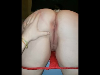 Amateur Snapchat College Girl gets thong pulled down and Spanked. PAWG