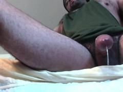 Hairy Muscle Shooting Cum and Dripping Rope
