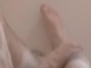 Bubbly man legs