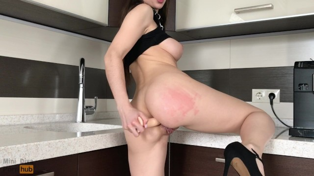 Cooling off your anus Teen slut preparing anal for your big dick - mini diva