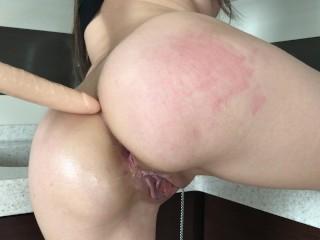 Teen slut preparing anal for your big dick – Mini Diva