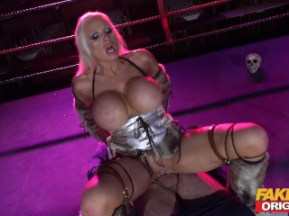 FAKEhub Originals Crazy massive tits Viking destroys cock