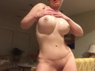 Beautiful mature women in stocking