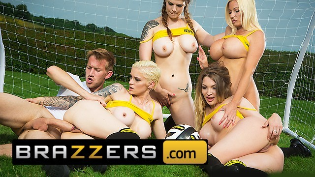 Ms brice soccer slut Brazzers - four soccer sluts share one cock