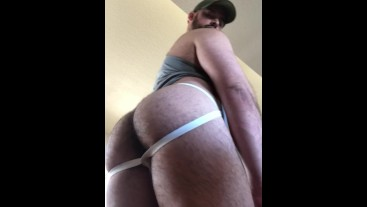 Big Beefy Muscle Ass and Hole in Jockstrap