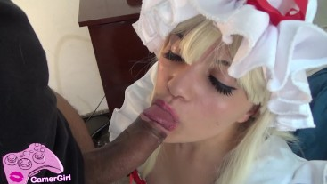 French Maid - Sensual Blowjob, Deepthroat & Facefuck