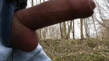 Cumming while walking public 4K