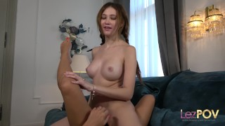 POV lesbian masturbation session as Gisha Forza plays with her lover porno