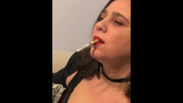 Complete dangling inhaling many strong corks for 20 minutes absorbion smoke