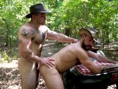 Cowboys Bareback - Big Bush Men from The Guy Site