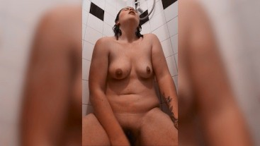 Playing in the shower, talking dirty for Chris in this custom video