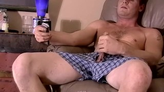 Jock amateur Keith jerking off and interracial blowjob