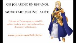 JOI CEI hentai. Alice, de SAO con voz en español.