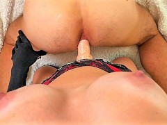 Big tits milf mistress fucks a guy with a strapon - Amateur POV pegging 4K