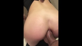 I suck my BF in the toilet before he fucked my asshole , sooo good !!!!