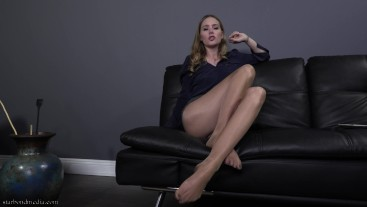 Sniffing Addict - Pantyhose Office Domination Foot Smelling JOI FULL VIDEO