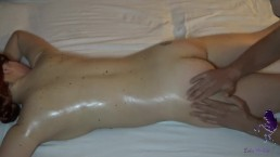 Milf gets oily massage and orgasm