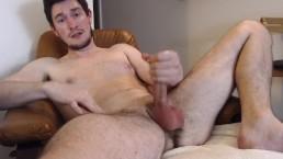 Naked exposed stud blasts huge cumshot knowing you're watching