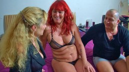 Mature thick redhead screwed while granny watches and helps