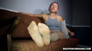 Sheer Pantyhose JOI and CEI