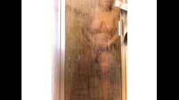 Morgan Moody, showering