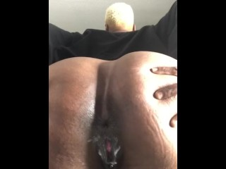 Creamy Wet Juicy Black Pierced Pussy Dripping In Desperation Fat Ebony Ass