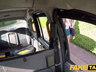 Fake Taxi Busty tattooed minx offers both tight holes after sloppy blowjob