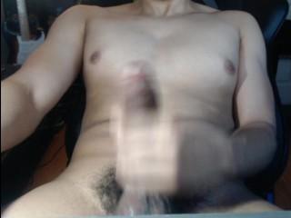 Jerking Off Cum on Stomach