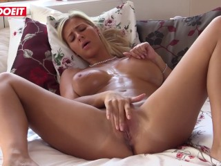 LETSDOEIT – STUNNING Busty Teen Nataly Cherie Fingers Pussy To Orgasm