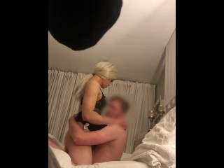 Tall Hunk Lays Back To Get Sucked