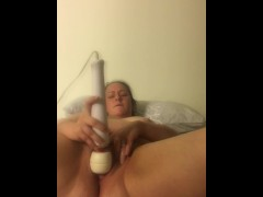 Sister lost a bet to my friend and had to let him watch her use a vibrator