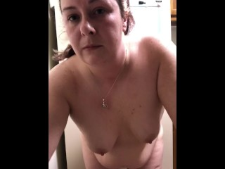 Mom struggles to get toy in her ass part 1