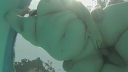 BBW Curious Clover Underwater Poolside Fuck