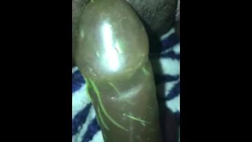 Wet Clit rubbing on dildo