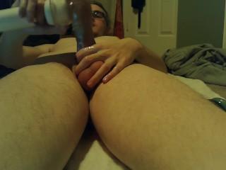 Bi Sub self anal fucking and masturbation