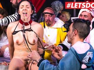 LETSDOEIT - Big Ass Babe Tortured In Kinky Pijama Party