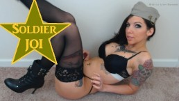 Thank You Soldier! Tattooed Girl Creamy Fuck Cum Army Navy Marine Military