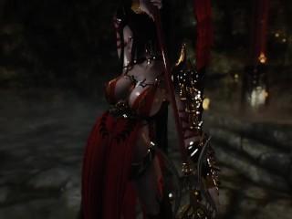 skyrim Chaurus and armor heroine porn
