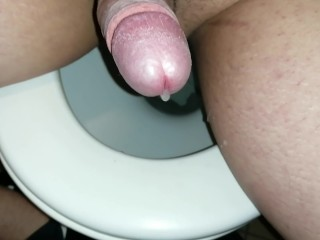 Dropping precum in public toilet